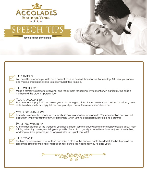 Speech Tips For The Father Of The Bride