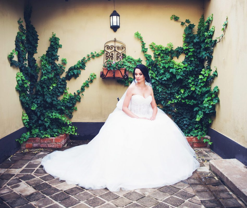 Wedding gallery - in Bridal suite courtyard