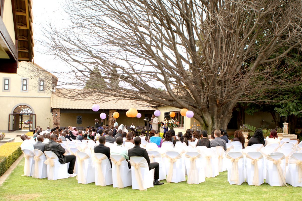 Wedding gallery - air ceremony under Chestnut Tree