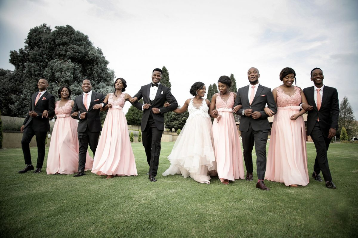Wedding gallery - group on lawns