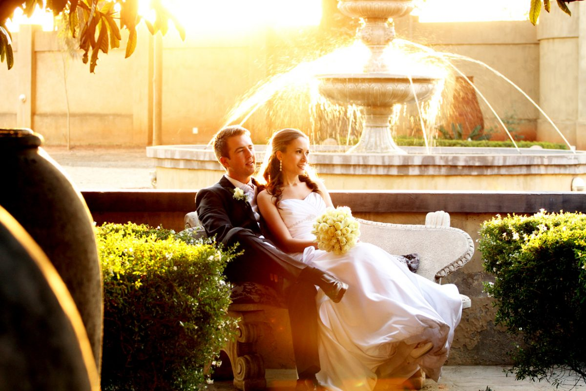 Wedding gallery - couple at Accolades Wedding Venue sunset