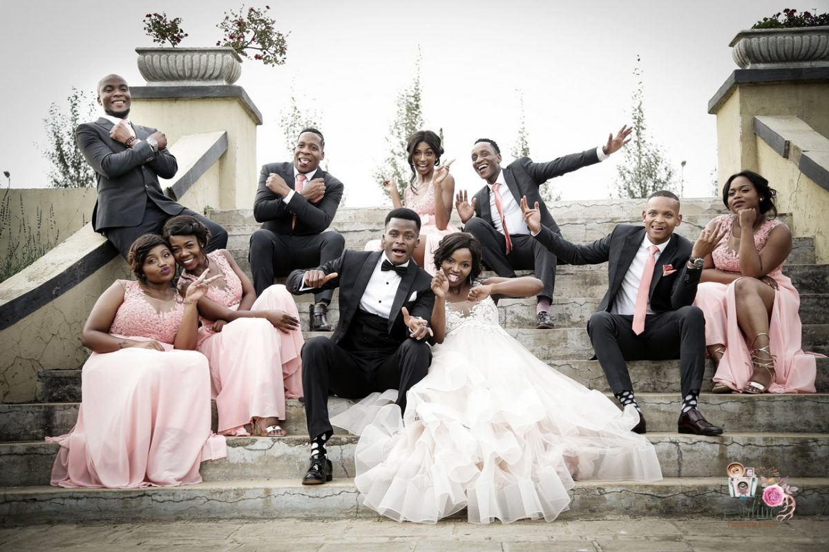 Wedding gallery - party on Accolades steps