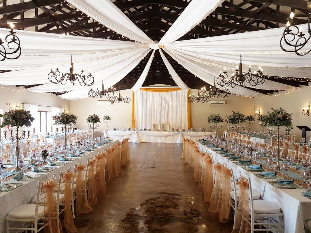 Decor set-up in Chestnut Wedding Venue