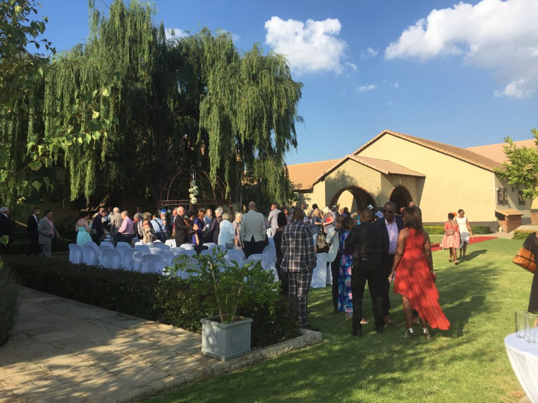 Outside ceremony under the Willow tree