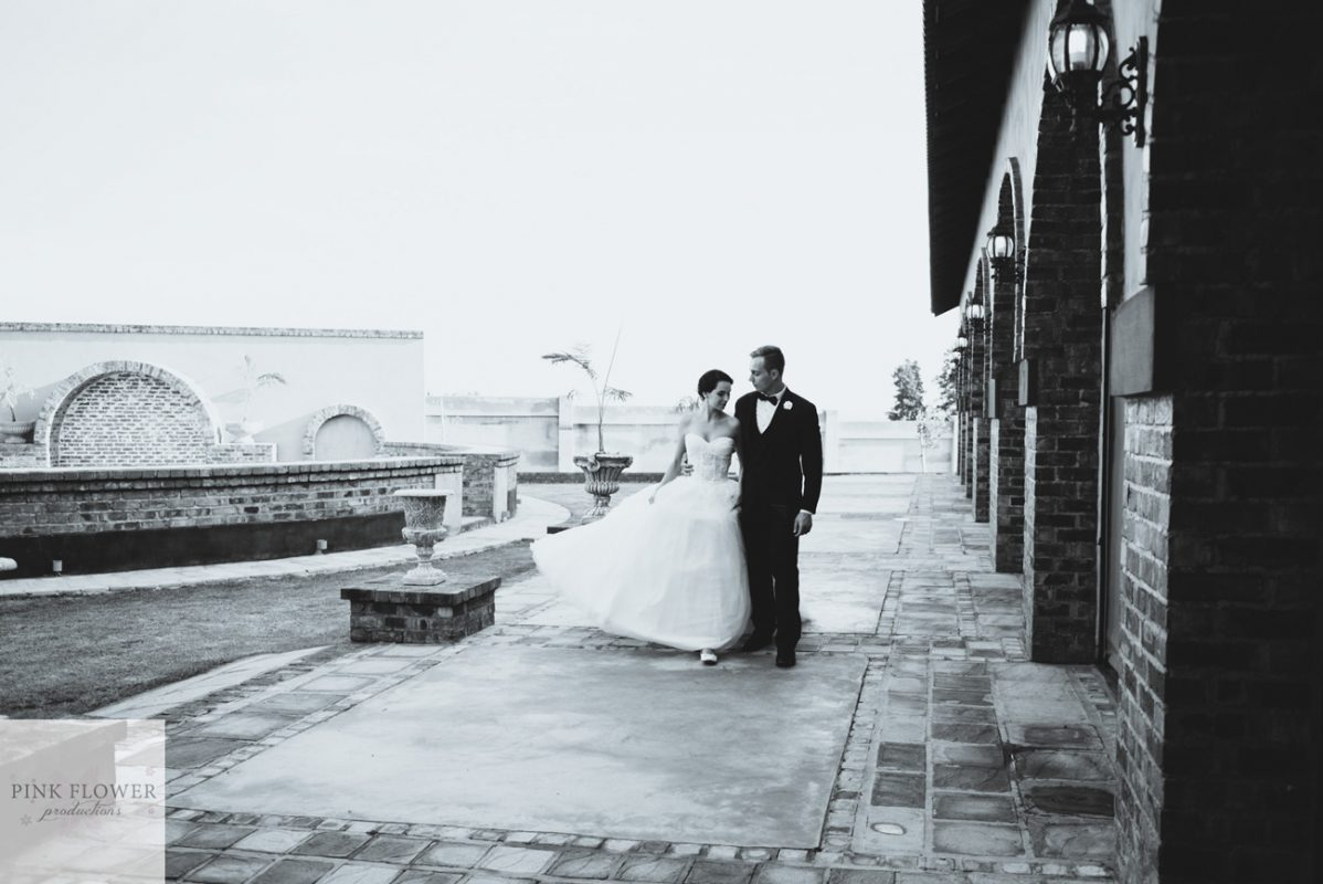 Wedding gallery - couple at Arches hall