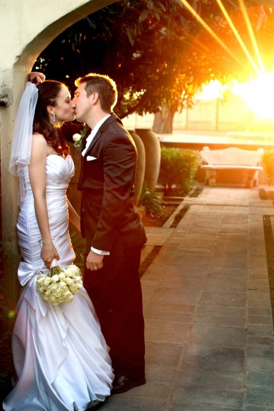 Wedding gallery - and groom in the perfect sunset