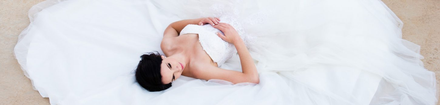 Bride at Accolades wedding venue header