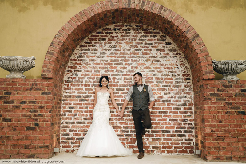 Wedding Gallery bride and groom arch