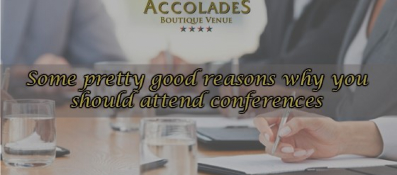 Some pretty good reasons why you should attend conferences